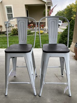 "Brand new 24"" LumiSource industrial high back counter stools set of 2 (retail $227) for Sale in West Valley City, UT"