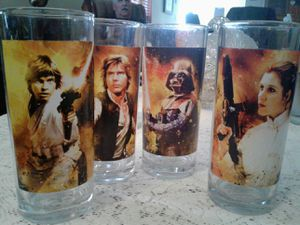 Star Wars collection glasses for Sale in Modesto, CA