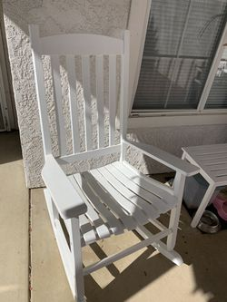 Two Rocking Chairs And Table for Sale in Visalia, CA