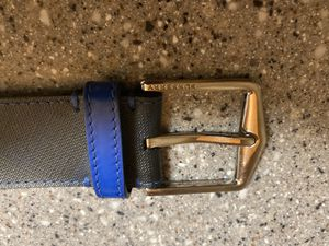 Burberry black and blue men's belt 38/95 for Sale in Kirkland, WA
