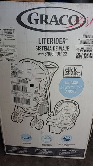 Stroller with car seat and base for Sale in Riverside, CA