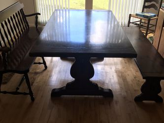 Ethan Allen Antique Trestle Table & Benches for Sale in Ocala,  FL