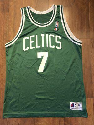 Vintage 90s Boston Celtics Dee Brown Champion Jersey Size 48/XL for Sale in Huntington Beach, CA