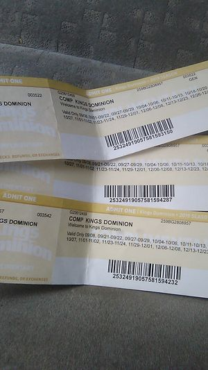 3 Kings Dominion Tickets for Sale in Richmond, VA