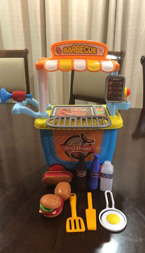 Best dishes play food BBQ Cart with over 17 accessories for Sale in Mesa, AZ
