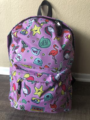 Large girl's lavender color backpack. With tags! for Sale in Fontana, CA