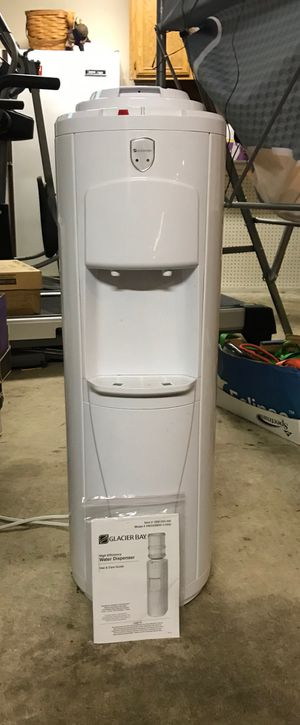 Hot/cold water dispenser for 5 gallon water jugs. Almost new. From Home Depot. for Sale in Gig Harbor, WA