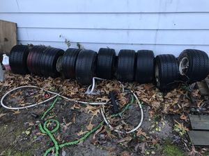 10 golf cart rims and tires for Sale in Colonial Heights, VA
