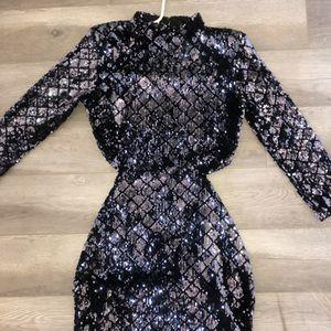 Black sequin open back dress for Sale in Fontana, CA