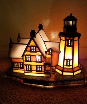 Just $20! Artist Designed Stained Glass Light Lighthouse. Please read for Sale in Las Vegas, NV