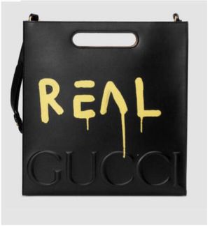 GucciGhost Leather Tote Bag, Black/Yellow for Sale in Beverly Hills, CA