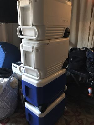 4 coolers for Sale in San Diego, CA