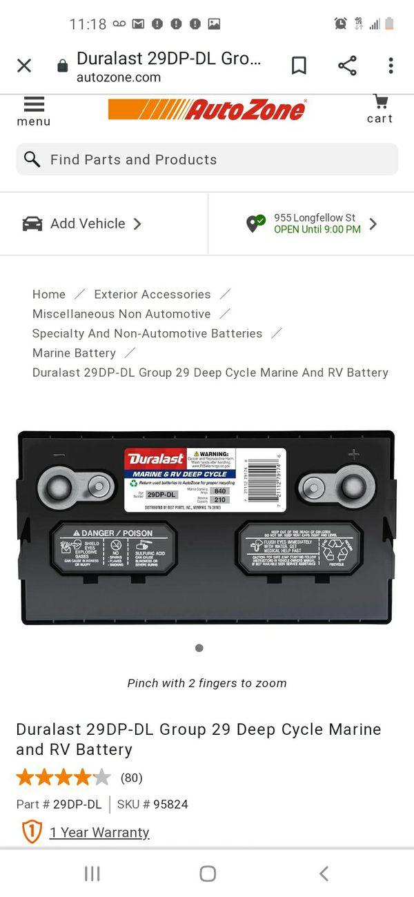 Marine/RV batteries