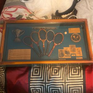 Tennis Racket Glass Picture for Sale in Fresno, TX