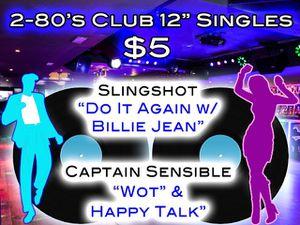 "2 - 12"" Vinyl Singles-""80's Club Slingshot & Captain Sensible for Sale in Bethesda, MD"