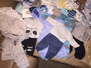 0-3 Month Baby Boy Lot with 144 Pampers for Sale in San Antonio, TX