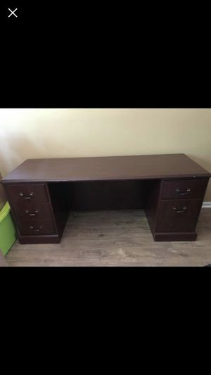 Very Nice Two Executive Desk with Three Bookshelves (Two large and one small) and matching cabinet. Each executive desk cost retail around $800 and b for Sale in Cumming, GA
