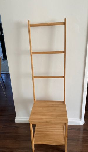 IKEA Rågrund chair and towel rack for Sale in Los Angeles, CA