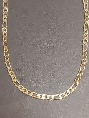 "Brand new men's 18KT GOLD FILLED 7MM Thick Italian Figaro Chain 24"" necklace for Sale in New Port Richey, FL"