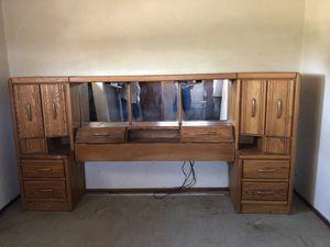 Queen headboard and TV cabinet. for Sale in Bakersfield, CA