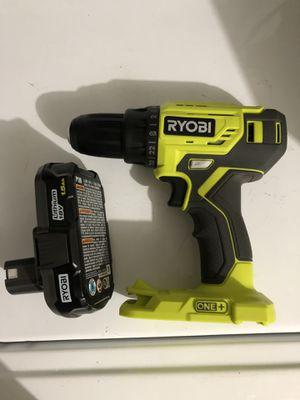 Ryobi drill with battery for Sale in Dallas, TX