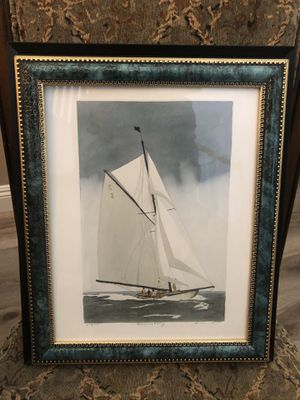Framed Picture of Sailboat at Sea for Sale in Coto de Caza, CA