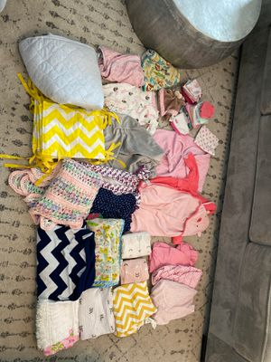Baby sheets blankets mattress pad changing table covers bath robes for Sale in Poway, CA