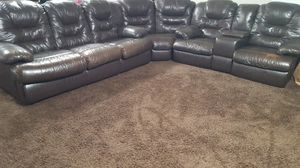 Leather Couch Sectional for Sale in Hanford, CA