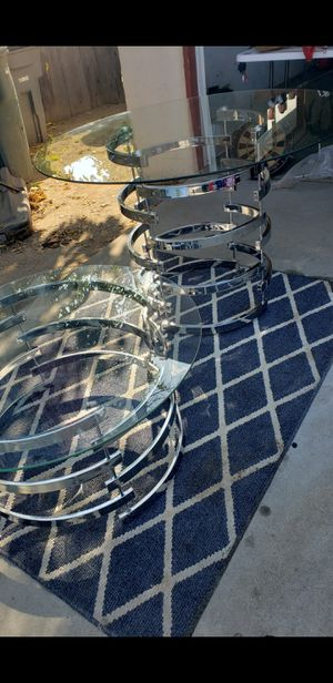 Modern glass tables for Sale in Fresno, CA