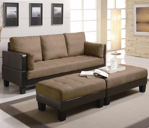 Brand New Futon/Sofa Bed with 2 Ottomans for Sale in Chicago, IL