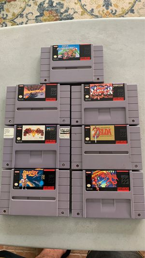 Super Nintendo games for Sale in South Gate, CA