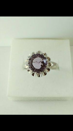 *ANTIQUE UNIQUE* Solid 18k White Gold NATURAL AMETHYST ring size 7.5 $480 OR BEST OFFER for Sale in Phoenix, AZ