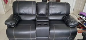 Power reclining love seat with free king mattress and iron bed frame for Sale in Miami, FL