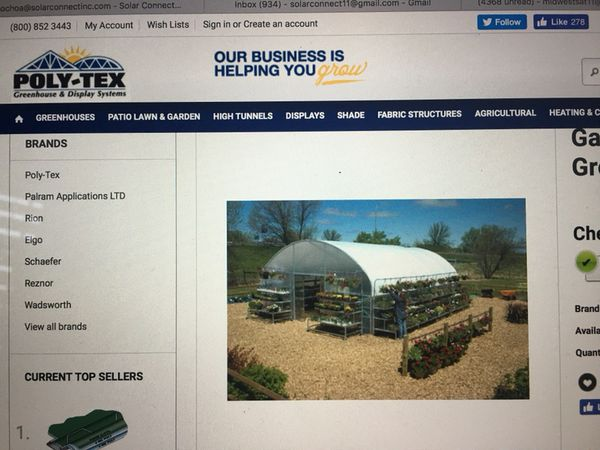 Garden Mart style green house for sale