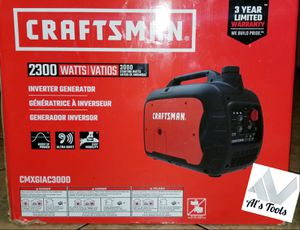 Craftsman 3000 W 2300 w gas inverter generator brand new for Sale in Paramount, CA