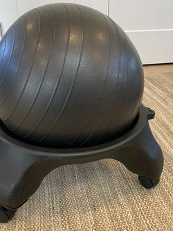 Swiss Ball Chair With Rolling Base for Sale in Kirkland,  WA