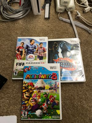 FIFA, DDR, Mario party 8 for Nintendo Wii for Sale in Sunnyvale, CA