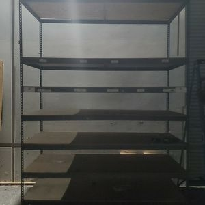 Metal Storage Shelving 10'H x 8'W x 4'D. Five Total for Sale in Jurupa Valley, CA