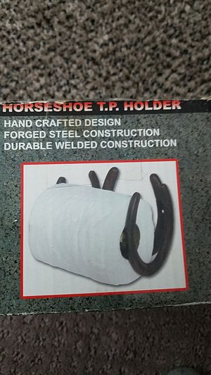 Horseshoe toliet paper holder for Sale in Old Mill Creek, IL