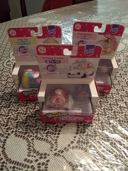 3 Shopkins Cutie Cars QT4 Diecast Car With Mini Shopkin New for Sale in Silver Spring,  MD