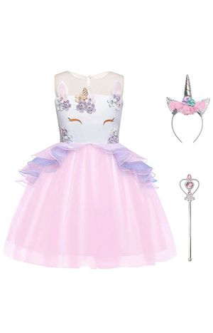 Girls Unicorn Costume Flower Pageant Princess Dresses & 2PCS Accessories for Sale in Coral Springs, FL