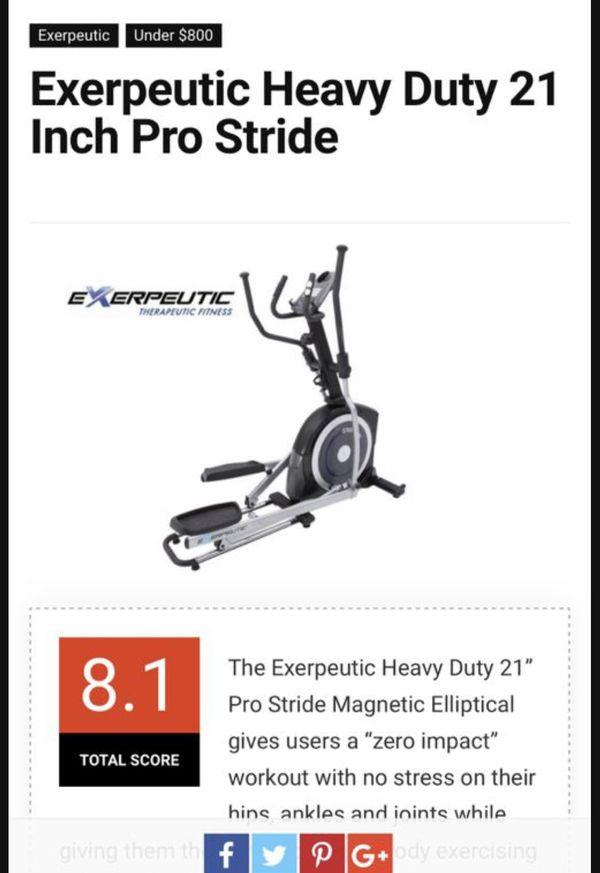 Exerpeutic Elliptical