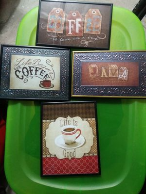 5x7 coffee wall pictures ($5 EACH) for Sale in Philadelphia, PA