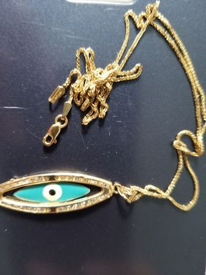 Gold 10K Necklace Chain and Pendant New 10 inches for Sale in Austin, TX