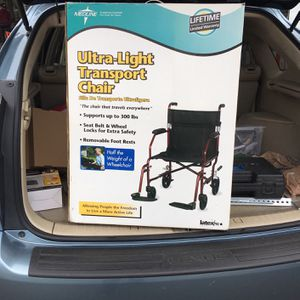 "Meddling New In Box 19"" Ultra Light Transport Chair for Sale in San Diego, CA"