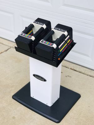 PowerBlock Dumbbells - Powerblocks - Stand - Weights - Dumbbell Rack - Exercise - Gym Equipment for Sale in Downers Grove, IL