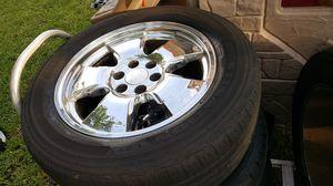 4 chrome 20 in Chevy rims w/tires for Sale in Miami, FL