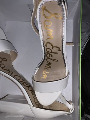 SamEdelman white leather heels for Sale in Brooklyn, NY