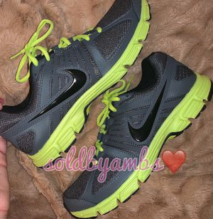 Neon Nike Green Downshifter Shoes. Sz 10. for Sale in Knightdale, NC