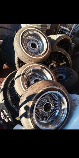 100 spoke Dayton 4 rims and tires for Sale in Houston, TX